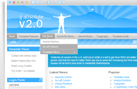 JJ Absolute Redux шаблон для Joomla 1.5