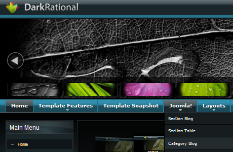 JJ Dark Rational шаблон для Joomla 1.5